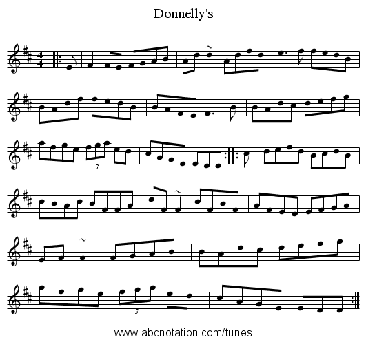 Donnelly's - staff notation