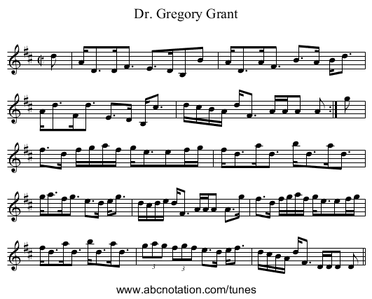 Dr. Gregory Grant - staff notation