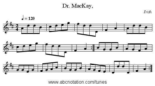 Dr. MacKay, - staff notation