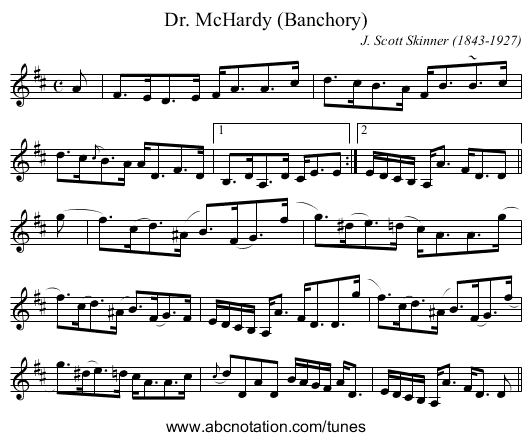 Dr. McHardy (Banchory) - staff notation