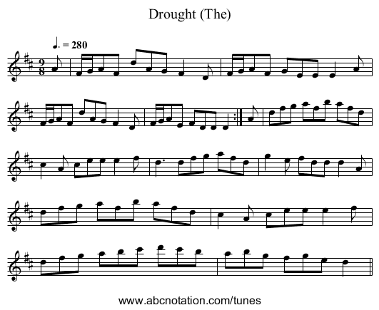 Drought (The) - staff notation