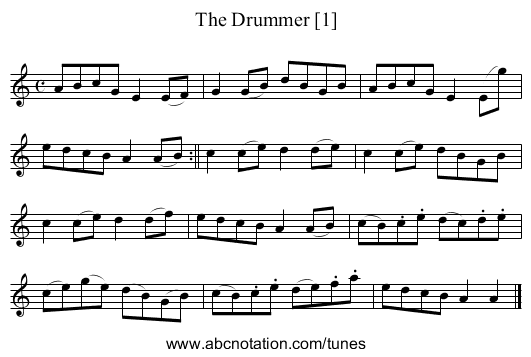Drummer [1], The - staff notation