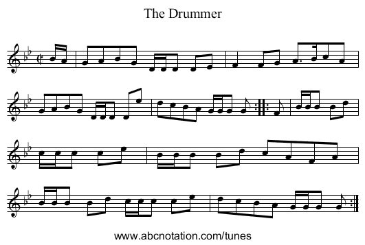 Drummer, The - staff notation