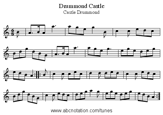 Drummond Castle - staff notation