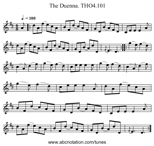 Duenna. THO4.101, The - staff notation