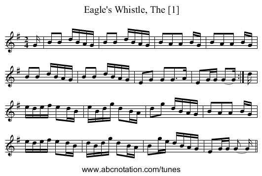 Eagle's Whistle, The [1] - staff notation