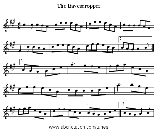 Eavesdropper, The - staff notation