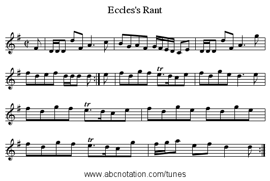 Eccles's Rant - staff notation