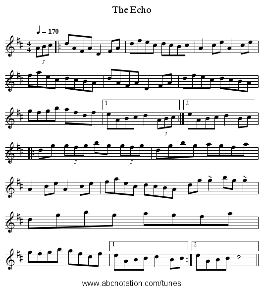 Echo, The - staff notation