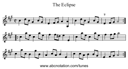 Eclipse, The - staff notation