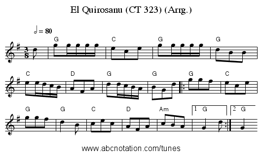 El Quirosanu (CT 323) (Arrg.) - staff notation