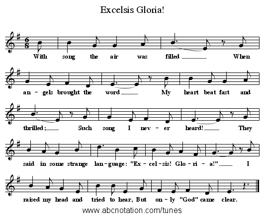 Excelsis Gloria! - staff notation