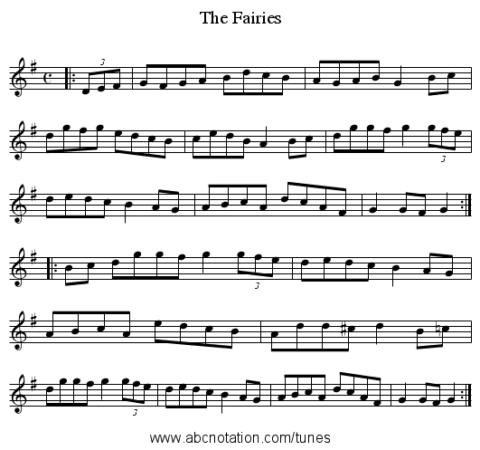 Fairies, The - staff notation