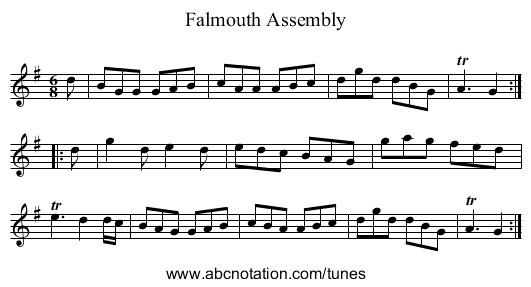 Falmouth Assembly - staff notation