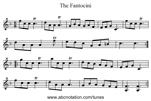 Fantocini, The - staff notation