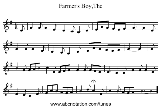 Farmer's Boy,The - staff notation