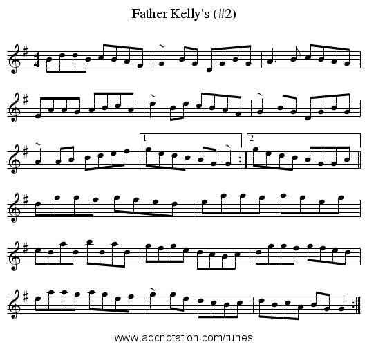 Father Kelly's (#2) - staff notation