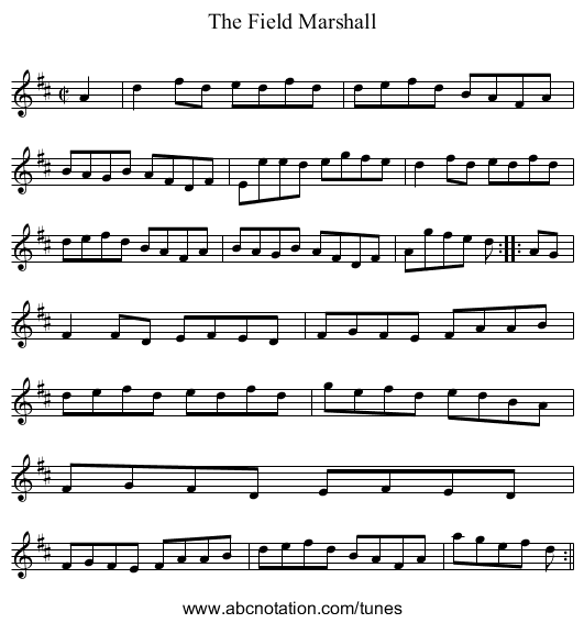 Field Marshall, The - staff notation