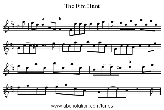 Fife Hunt, The - staff notation