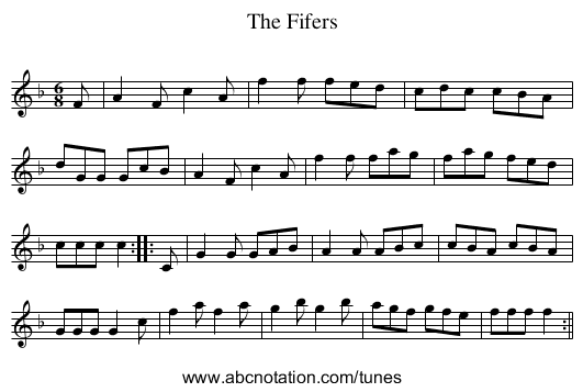 Fifers, The - staff notation