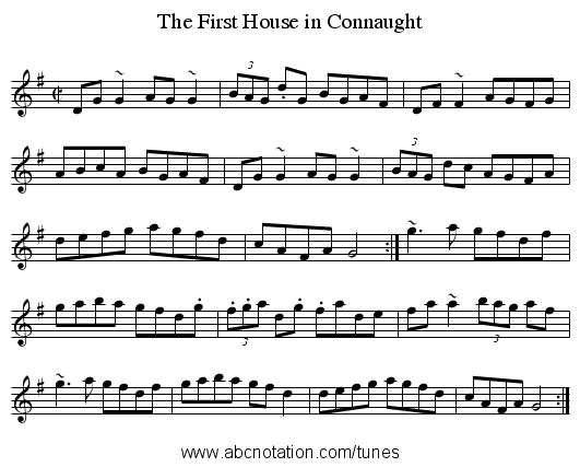 First House in Connaught, The - staff notation