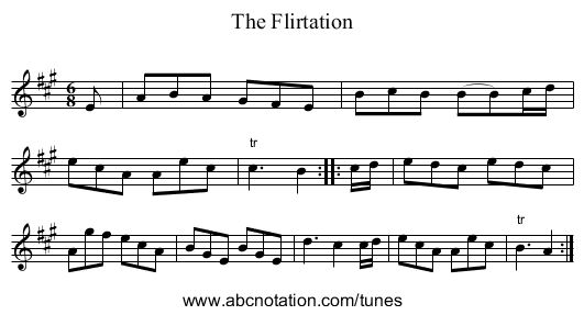 Flirtation, The - staff notation