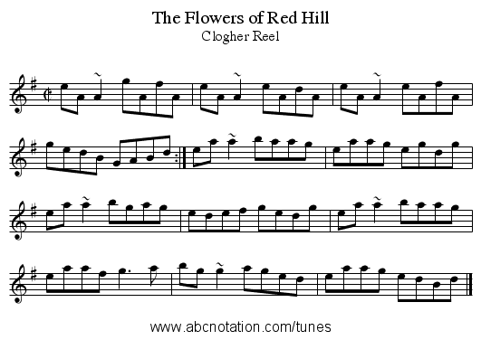 Flowers of Red Hill, The - staff notation