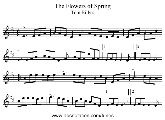 Flowers of Spring, The - staff notation