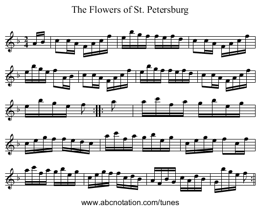 Flowers of St. Petersburg, The - staff notation