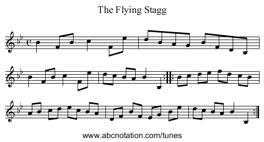 Flying Stagg, The - staff notation
