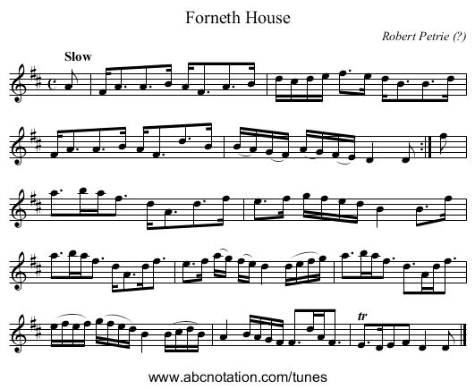 Forneth House - staff notation