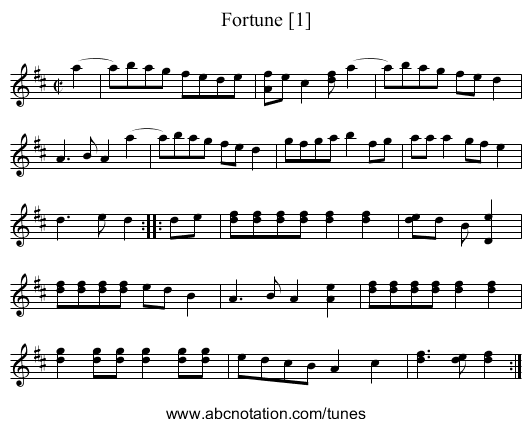 Fortune [1] - staff notation