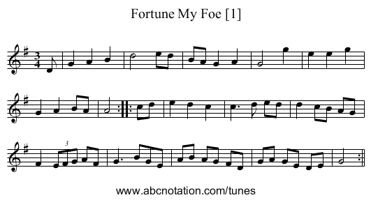 Fortune My Foe [1] - staff notation