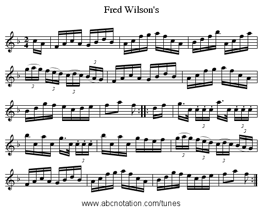 Fred Wilson's - staff notation