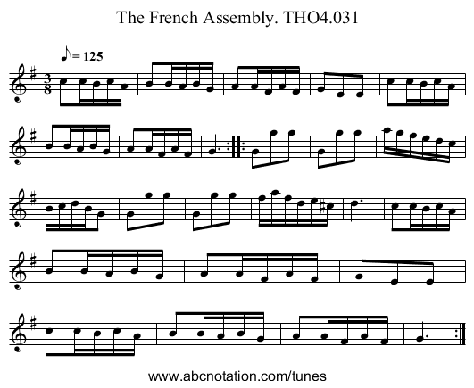 French Assembly. THO4.031, The - staff notation