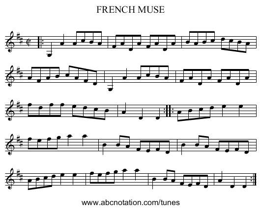 FRENCH MUSE - staff notation