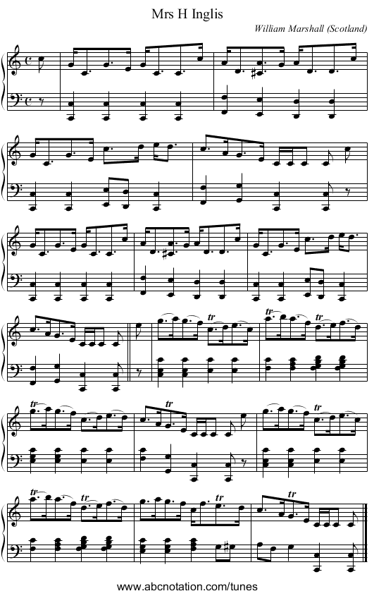 French-Canadian Waltz - staff notation