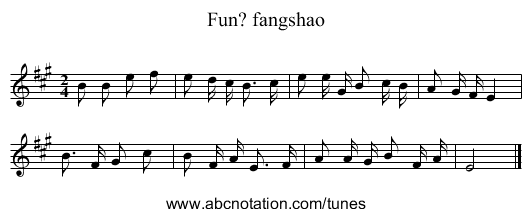 Fun? fangshao - staff notation