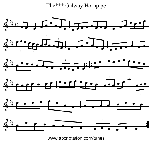 Galway Hornpipe, The*** - staff notation