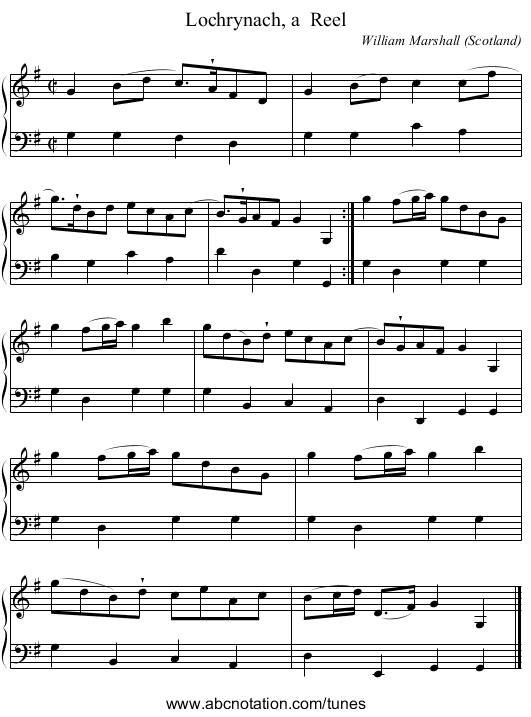 Gavotte - staff notation