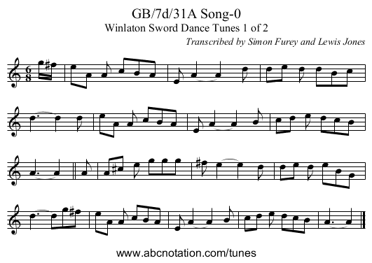 GB/7d/31A Song-0 - staff notation