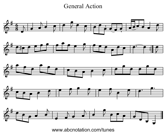 General Action - staff notation