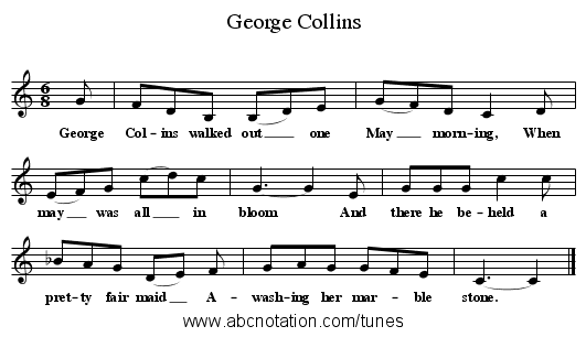 George Collins - staff notation