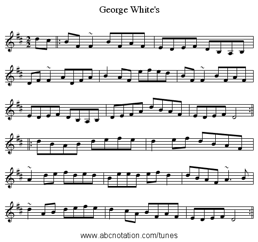 George White's - staff notation