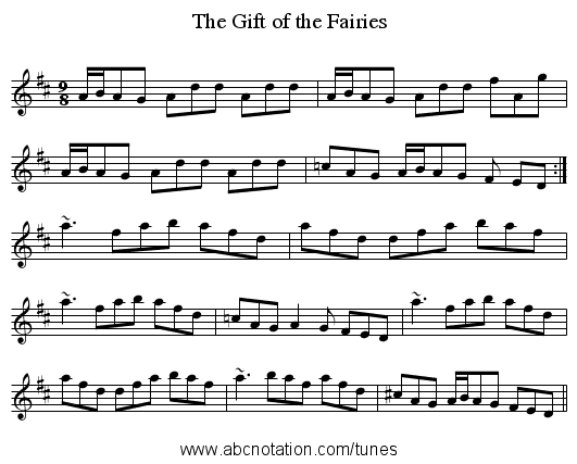 Gift of the Fairies, The - staff notation