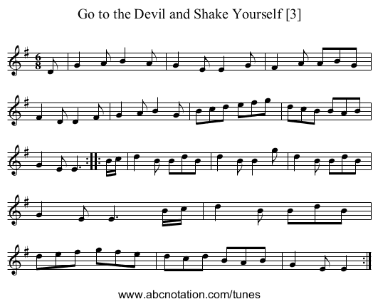Go to the Devil and Shake Yourself [3] - staff notation