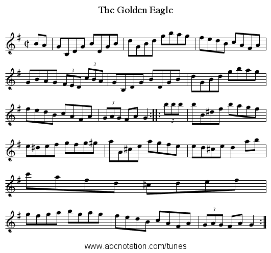 Golden Eagle, The - staff notation
