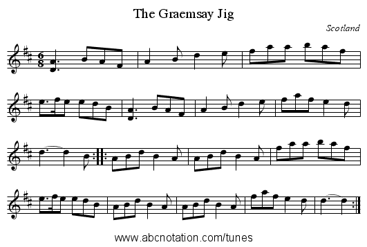 Graemsay Jig, The - staff notation