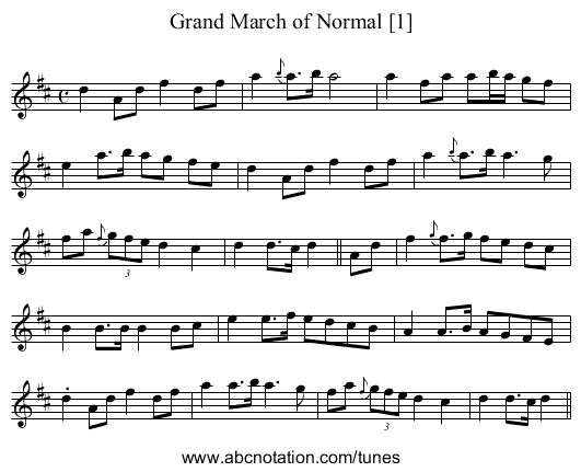Grand March of Normal [1] - staff notation