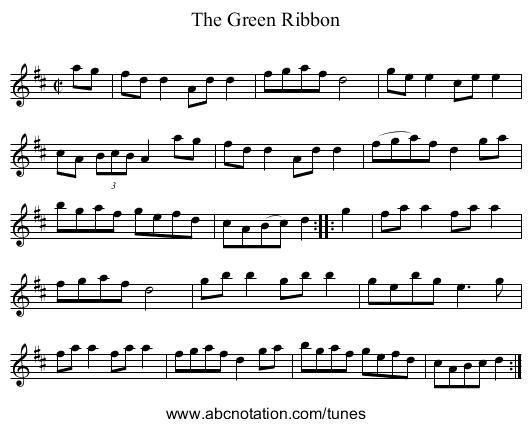 Green Ribbon, The - staff notation